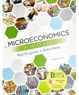 Loose-leaf Version for Microeconomics in Modules [Loose Leaf] Krugman, P... - $82.72