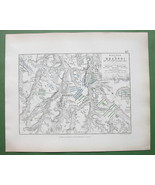 1848 Fine Quality Map - RUSSIA Krasnoy & Environs + Napoleon Battle of 1812 - $12.15