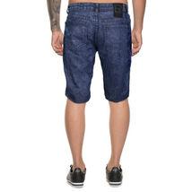 LR Scoop Men's Moto Quilted Distressed Painted Skinny Slim Fit Jean Denim Shorts image 7