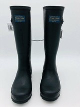 Women's Pendleton Woolen Mills Classic Tall Black Rubber Boots New in Box 6 7 9