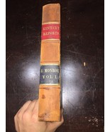 1854 Law Book Kentucky Reports Vol 1 Rare Lawyers Estate Find 2nd Edition - $467.49