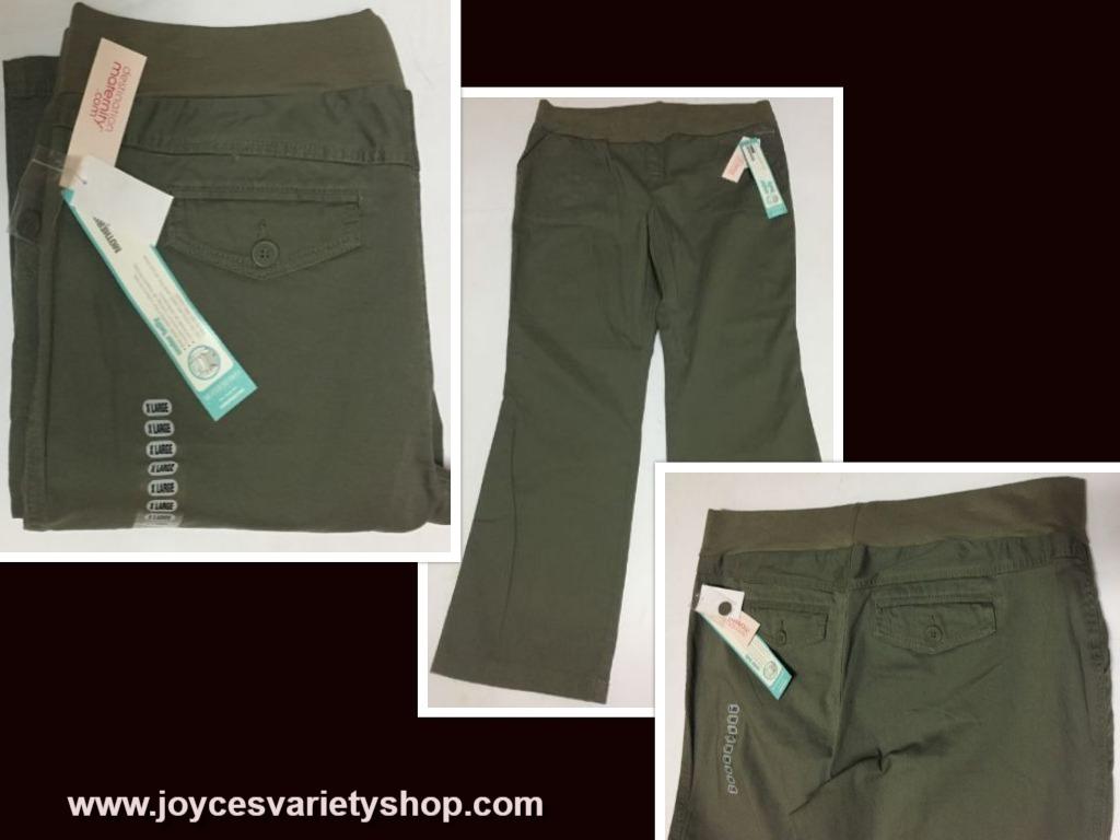 Motherhood green pants web collage