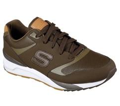 Olive Skechers Men's Memory Foam Sneaker Comfort Lace Up Mesh Soft Sport... - £38.16 GBP