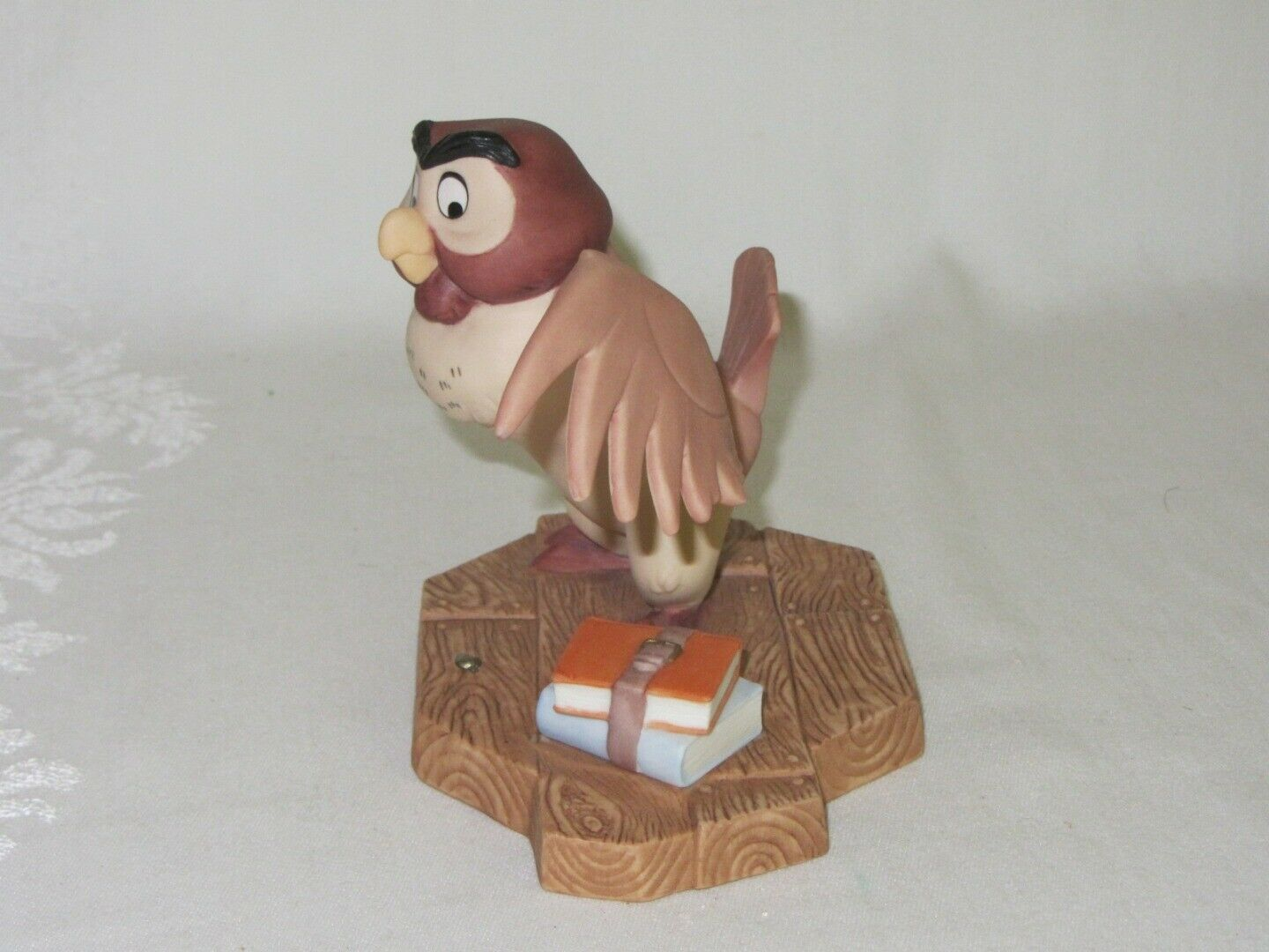 "Disney Pooh & Friends Owl Vintage Figurine ""You've Done a Very Grand Thing"""