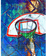 Colorful Basketball Art, Artwork, Home Decor, Sports Art Print, Basketball - $15.88+