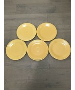 "6 VTG  FIESTA 5 Yellow 10.25"" Plates & 1 9"" Plate HOMER LAUGHLIN HLC FIE... - $50.00"