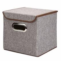 "10""x10""x10"" Collapsible Storage Cube Foldable Box Drawers Basket Bins wi... - $20.83"