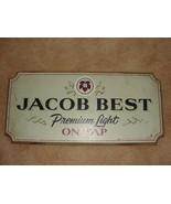 Jacob Best, Premium Licht, On Tap, 1982 Holz bar Werbe Pabst Gär Co. Sign - $31.97