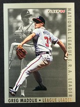 1994 Fleer League Leader Greg Maddux Card #12 of 12 - $1.24