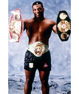 Mike Tyson Classic Barechested Pose Holding His Boxing Belt Titles 18x24... - $23.99