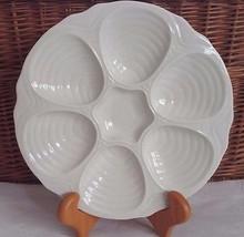 Hall Ceramics Oyster Clam Cream Plate 10.5 inch Vintage Restaurantware 6... - $28.05