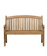 Amazonia Newcastle Patio Bench |Made of real Teak| Perfect for backyards... - £272.69 GBP