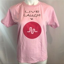 Youth L Gildan Live Laugh Heartbeat Pink Tee - $12.65
