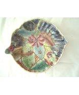 Asian Cloisonne Trinket Dish Leaf Shaped Bowl - $29.99