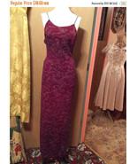Vintage 1980s Jump Sparkle Cranberry Evening Gown/USA/Sz 9/10 - $16.00