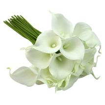 NHBR Calla Lily Bridal Wedding Party Decor Bouquet 20 heads Latex Touch ... - $18.82