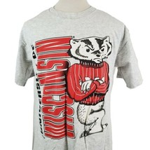 Vintage Wisconsin Badgers Bucky T-Shirt XL Nutmeg Double Sided Gray USA ... - $37.99