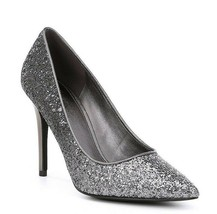 New Michael Kors Gray Metallic Glitter Embellished Leather Pumps Size 8.5 M $130 - $64.99