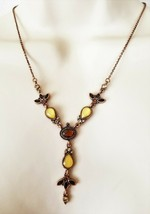1928 Copper Tone and MOP 16 Inch Drop Necklace NWT - $17.99