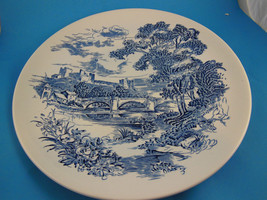 "Wedgwood Dinner Plate Countryside Blue & White 10"" England - $6.92"