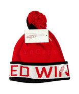 NHL Detroit Red Wings Cuffed Knit Pom Beanie Cap with Pin - $19.79