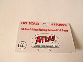 Atlas # 192000 Friction Bearing National C-1 70-Ton Trucks 1 Pair  HO Scale image 2