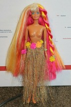 1976 on neck 1993 on back  Rainbow Long hair barbie doll with hula skirt... - $15.95