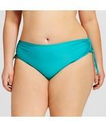 Plus Size Women's Plus Bikini Swim Bottom Emerald Green 2X - Bella Fiore - $12.86