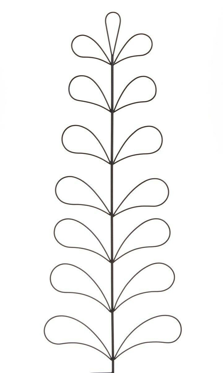 "Set of 2 - 44.5"" Black Metal Trellis in Tree Design - Garden Decor"