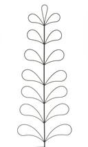 "Set of 2 - 44.5"" Black Metal Trellis in Tree Design - Garden Decor"