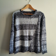 The Limited Sequin Shine Sweater Silver/Gray/Black Polyester Blend, Size... - $38.47