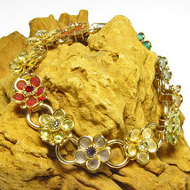Crystal Flower Bracelet - $24.95