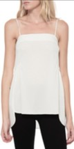 NWT Helmut Lang Spaght Shirred HiLo Matte Stretch Silk Crepe Tank Top Ec... - $45.99