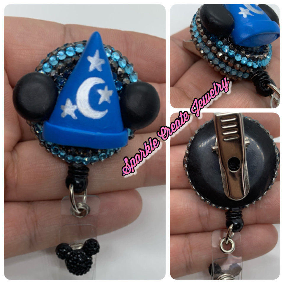 MICKEY MOUSE Sorcerer Hat Clay Badge Reel