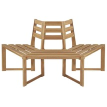 "vidaXL Solid Acacia Wood Tree Bench 63"" Patio Outdoor Seat Relaxer Furni... - $130.99"