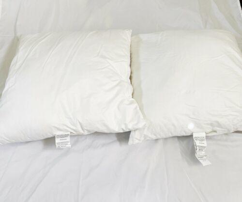 "Set Lot (2) Pottery Barn 26"" x 26"" Large Sham Polyester Pillow Insert USA Made"