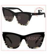 SAINT LAURENT KATE 214 YSL SL214 Black Sand Spotted Cat Sunglasses Unise... - $252.45