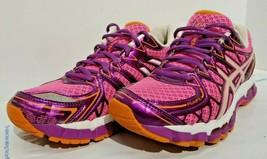 Asics Women's Gel-Kayano 20 Running Sneakers Mesh Pink Purple 7 1/2 EUC - $74.24