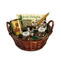 Turkish Coffee World Turkish Coffee Gift Basket with A Set for Two - $179.99