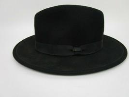 Vintage SCALA CLASSICO Mens Black Wool FEDORA Winter Hat size M PIMP GOD... - $23.13