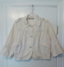 HEI HEI Anthropologie Cute Lightweight Off-White Cotton Jacket Size L $168 - $36.50