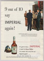 1948 Imperial Whiskey Bar Scene Men in Suits Hiram Walker Print Ad Page ... - $7.84