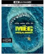 THE MEG 4K ULTRA HD + BLU-RAY+ DIGITAL + SLIPCOVER- BRAND NEW! - $19.75