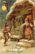 Merry Christmas To You Finkenrath of Berlin 1908 Post Card - $8.00