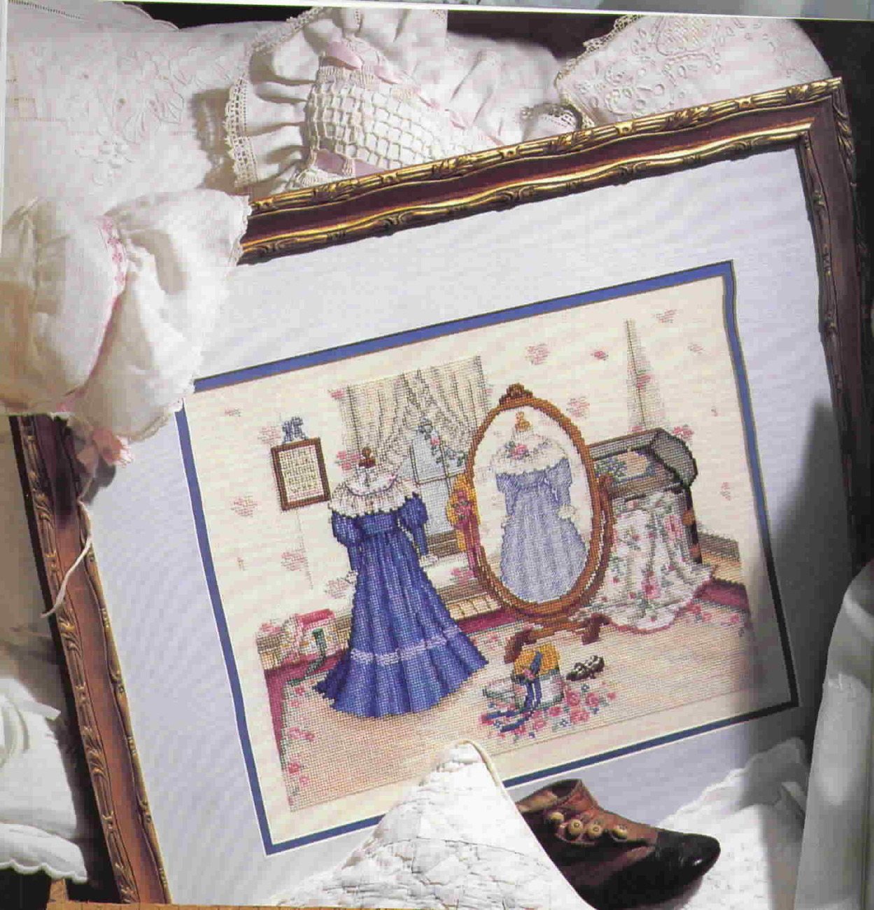 Leisure Arts The Romance of Paula Vaughan, Cross Stitch, Hardback