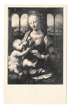 Leonardo Da Vinci Madonna and Child Virgin and Infant Noyer Art Postcard - $4.99