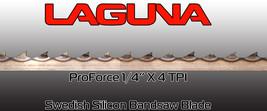 "Laguna Tools ProForce Bandsaw Blade 1/4"" x 4 tpi x 101"" NEW Band saw Blades - $25.25"