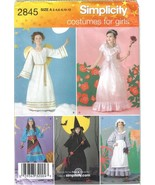 Simplicity Costumes Pattern 2845 Angel Princess Gypsy Witch More Szs 2-1... - $4.99