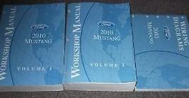 2010 Ford Mustang Gt Cobra Mach Service Shop Repair Manual Set 10 W Pced & Ewd - $138.55