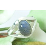 Sterling Silver Oval Labordorite Gemstone Ring Size 6.5 - $38.00